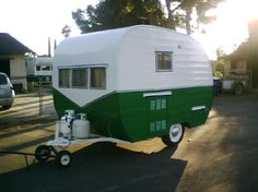 Very cute...have the same trailer in blue and white...like your paint job better!!!