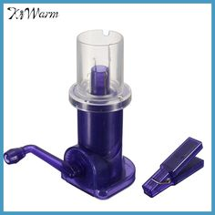 KiWarm Practical Blue Hand Operated Easy Knitting Tool Domestic Wool Weaver Machine Home DIY Craft Tool Accessories Gifts Diy Crafts Tools, Fun Crafts, Sewing Crafts, Diy Knitting Machine, Easy Knitting, Knitting Needles, Knitting Stiches, Knitting Wool, Knitting Patterns