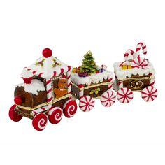Candy Cane Train Trinket Box, Silver