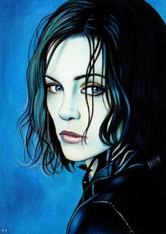 selene from Underworld Underworld Selene, Underworld Movies, Underworld Kate Beckinsale, Jaina Proudmoore, Fantasy Art Women, Fantasy Movies, Character Drawing, Painting Inspiration, Female Art
