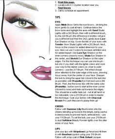 Loving the shape the eye shadow creates, and the glossy purple lip. MAC Face chart.