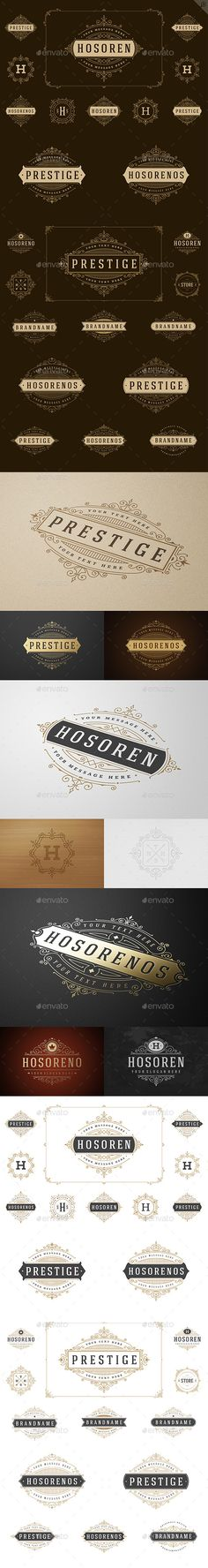 25 Ornaments Logotypes and Monograms #design Download: http://graphicriver.net/item/25-ornaments-logotypes-and-monograms-/12169970?ref=ksioks