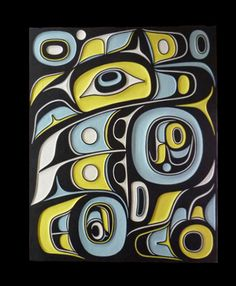 Raven Panel by Don Yeomans, Haida & Métis nations Arte Haida, Haida Art, Native American Design, American Indian Art, Arte Tribal, Tribal Art, Inuit Art, Canadian Art, Coastal Art