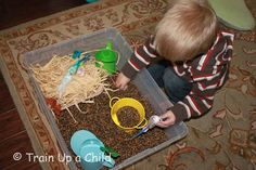 Bird's Nest Sensory Bin ~ Learn Play Imagine