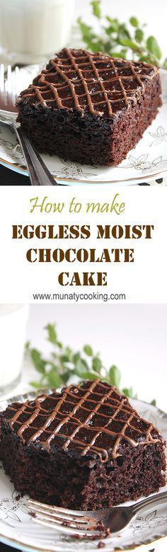 How to make egg free cake, moist, chocolaty, and lowcalorie Dessert recipes! is part of Egg free cakes - Eggless Desserts, Eggless Recipes, Eggless Baking, Dessert Recipes, Healthy Recipes, Egg Desserts, Non Dairy Desserts, Desserts Nutella, Baking Desserts