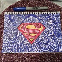 Image via We Heart It #disegni #drawing #hero #Logo #superhero #superman