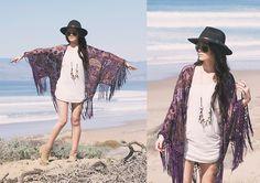 Nasty Gal Kimono, Fringe Necklace
