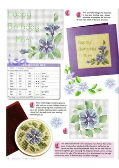 ru & Фото - The world of cross stitching 034 июль 2000 - WhiteAngel Cross Stitch Bookmarks, Mini Cross Stitch, Cross Stitch Cards, Cross Stitch Flowers, Counted Cross Stitch Patterns, Cross Stitching, Cross Stitch Geometric, Pop Up Cards, Button Crafts