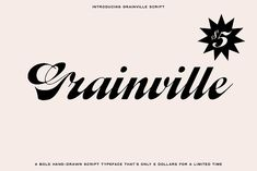 Grainville Script Font by Bnick on @creativemarket