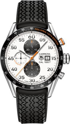 CARRERA Calibre 1887Automatic Chronograph43 MMMcLaren 40th anniversary Silver opalin Polished steel bracelet | TAG Heuer