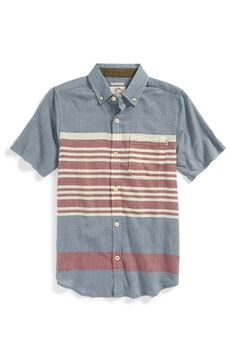 camisa manga curta retilínea