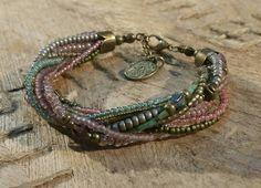 Swarovski, Bronze, Etsy Shop, Bracelets, Jewelry, Fashion, Glass Beads, Crystals, Armband