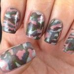 pink camo nails....neat