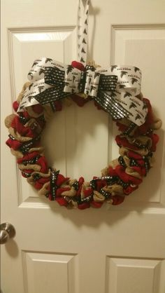 Falcons wreath, teacher gift for Christmas.