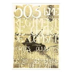 RIGAULT. 503è Régiment de chars de combat.Offset Offset, Auction, Posters, Decor, September 10, Event Posters, Decoration, Poster, Decorating