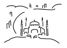 Line Drawing - Istanbul Hagia Sophia by Lineamentum