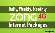 The post Zong Internet Packages – Daily, Weekly & Monthly Bundles [2020] appeared first on INCPak. Zong Internet Packages are one of the most competitive in the market when it comes to their Daily, Weekly and Monthly Data Bundles compared to all other networks in the country. Zong Internet Packages – Daily, Weekly & Monthly Bundles [2020]. Zong Internet Packages زونگ انٹرنیٹ پیکجز We have compiled a list of latest Zong … The post Zong Internet Packages – Daily, W