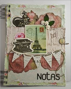 Un hermoso block de notas (scrapbook)