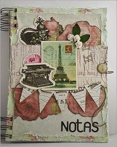 Un hermoso block de notas (scrapbook)