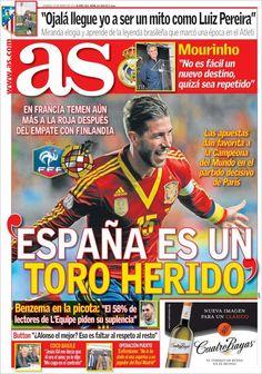 Los Titulares y Portadas de Noticias Destacadas Españolas del 24 de Marzo de 2013 del Diario Deportivo AS ¿Que le parecio esta Portada de este Diario Español?