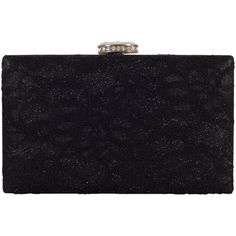 Chesca Floral Lace Clutch Bag , Black (370 RON) ❤ liked on Polyvore featuring bags, handbags, clutches, black, floral print handbags, cocktail purse, special occasion handbags, hand bags and lace clutches
