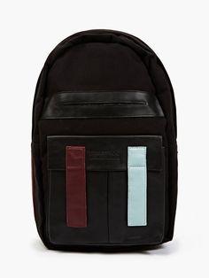 Eastpak x Nicomede Black Felt and Leather Backpack   oki-ni