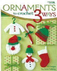 Ornaments to Crochet 3 Ways, Leisure Arts Christmas Crochet Pattern Booklet Crochet Books, Crochet Crafts, Crochet Projects, Crochet Tree, Free Crochet, Knit Crochet, Christmas Projects, Holiday Crafts, Holiday Crochet Patterns