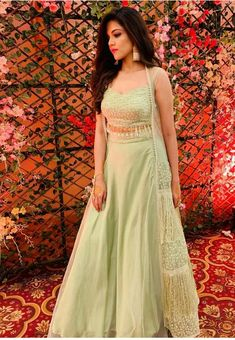 Indian Crop prime for marriage ceremony Marriage ceremony Gown Alterations When you have got a marri Party Wear Indian Dresses, Gown Party Wear, Indian Bridal Outfits, Indian Gowns Dresses, Indian Wedding Wear, Dress Indian Style, Party Wear Lehenga, Indian Skirt, Wedding Dresses
