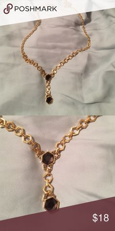 """Worthington necklace NWT black and gold """"y"""" necklace Worthington Jewelry Necklaces"""