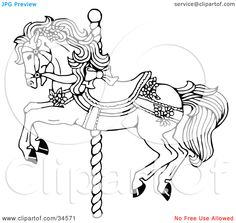 Images For > Carousel Horse Clip Art