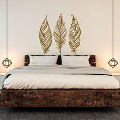 Feathers Wall Decals Tribal Decor Boho Bohemian Bedroom Dorm