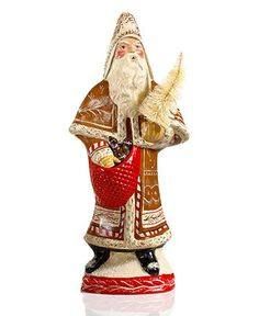 Vaillancourt Collectible Figurine, Gingerbread Father Christmas - Holiday Lane - Macy's