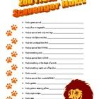 Going to the zoo today and we will do this. This file contains two scavenger hunt sheets.  The first page contains that are suitable for lower elementary, and the second page for upper elementary.