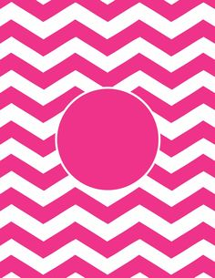 Chevron Printable Monogram   Hot Pink Great For Bottle Cap Jewelry, Glass  Tile Jewelry U0026 Fridge Magnets Too!