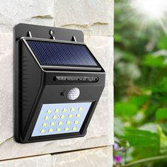 Security Outdoor Waterproof 20 LED Solar Light Wireless Motion Sensor AUTO OFF/ON Wall Lamp for Diveway Garden Path Night Light #Affiliate