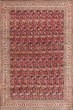 Antique Blue Background All Over Design Persian Bidjar Carpet