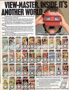 Vintage Advertisements, Vintage Ads, Retro Toys, 1960s Toys, Nostalgia, View Master, Cartoon Tv, Another World, Classic Toys