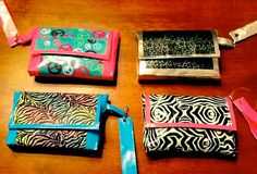 Wristlets duct tape assorted patterns