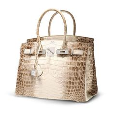 "The Anatomy of a $432,000 Handbag Himalayan ""nile"" croc 30 cm birkin rarest of all impossible to get VIP only access SO RARE BECAUSE IT IS MADE FROM ALBINO CROCS"