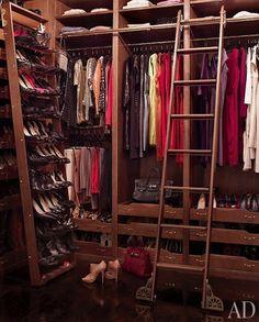 Celebrity Closet | Interior Design | Clothes Storage  Brooke Shields closet