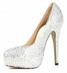 Honeystore Women's Platform Rhinstone over Sheepskin Pump Silver 6 B(M) US Honeystore  Online Shopping click on Amazon here http://www.amazon.com/dp/B00EJ9O5YU/ref=cm_sw_r_pi_dp_BL6Otb10ATHB6883