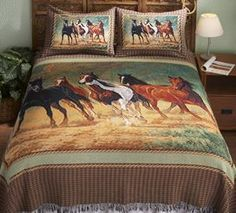 Save - on all Western Bedding and Comforter Sets at Lone Star Western Decor. Your source for discount pricing on cowboy bed sets and rustic comforters. Country Bedding Sets, Best Bedding Sets, Comforter Sets, King Comforter, Western Bedding, Rustic Bedding, Horse Themed Bedrooms, Horse Bedding, Girl Bedding