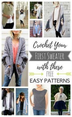 Crochet Your First Sweater with these 10 Free & Easy Patterns! - Lion Brand Notebook
