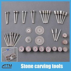Stone carving tools dremel diamond burr set cutting disc cylinder grinding heads and drills abrasive mounted