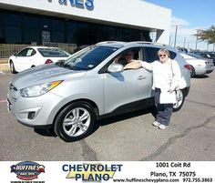 #HappyAnniversary to Pamela Ruwaldt on your 2010 #Hyundai #Tucson from Eric Stovall at Huffines Chevrolet Plano!