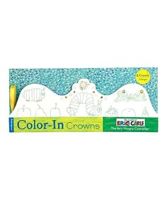 Another great find on #zulily! Chronicle Books The Very Hungry Caterpillar Color-In Crown Set by Chronicle Books #zulilyfinds