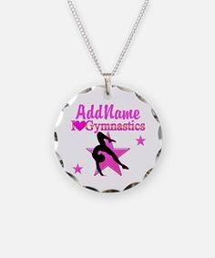 SNAZZY GYMNAST Necklace Wow your Gymnast with these original personalized Gymnastics necklaces!  http://www.cafepress.com/sportsstar/10114301 #Gymnastics #Gymnast #WomensGymnastics #Lovegymnastics #PersonalizedGymnast #GymnastJewelry #GymnasticsJewelry