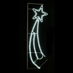 white outdoor led shooting star silhouette star silhouetteoutdoor christmaschristmas lightsshooting