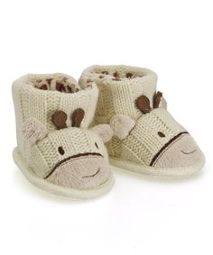 Baby Knitted Giraffe Slippers, £7, Mothercare