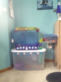 "Do your parents say your hamster is ""fine"" in a crittertrail, but you know they are really not? Well, here's  this cool crittertrail idea. It's just your old, tiny crittertrail cage, but with an $8.00 bin, and a $1.00 mini bin."